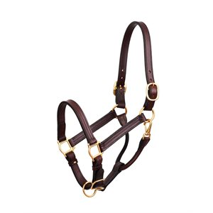 "PREMIUM 1"" LEATHER SHOW HALTER"