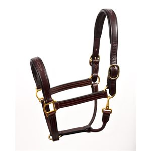 FANCY STITCHED HORSE LEATHER HALTER