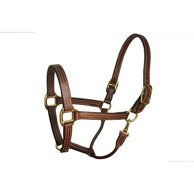"1"" COB HAVANA LEATHER STABLE HALTER"