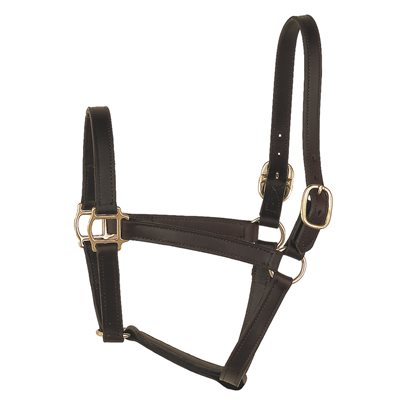 "1"" COB TRACK BLACK TURNOUT HALTER"