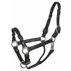 TWISTED LEATHER HALTER - CLOSEOUT