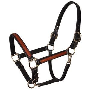 LEATHER OVERLAY HALTER