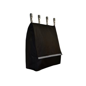 BLACK STALL BAG WITH GRAY TRIM