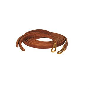 8' WESTERN SNAP END LEATHER REINS