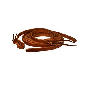 8' WESTERN TIE END LEATHER REINS