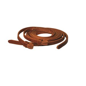 8' WESTERN LOOP END LEATHER REINS