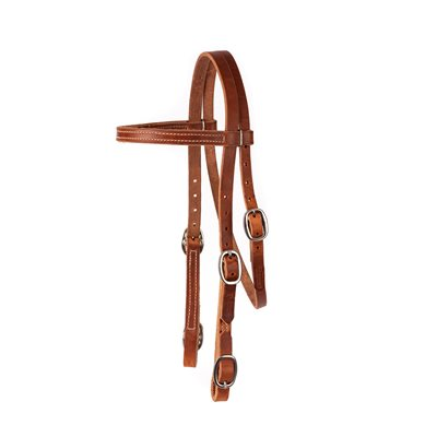"""1"""" WIDTH BROW BAND BUCKLE END HEADSTALL"""
